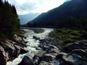 Sesia river in Italy