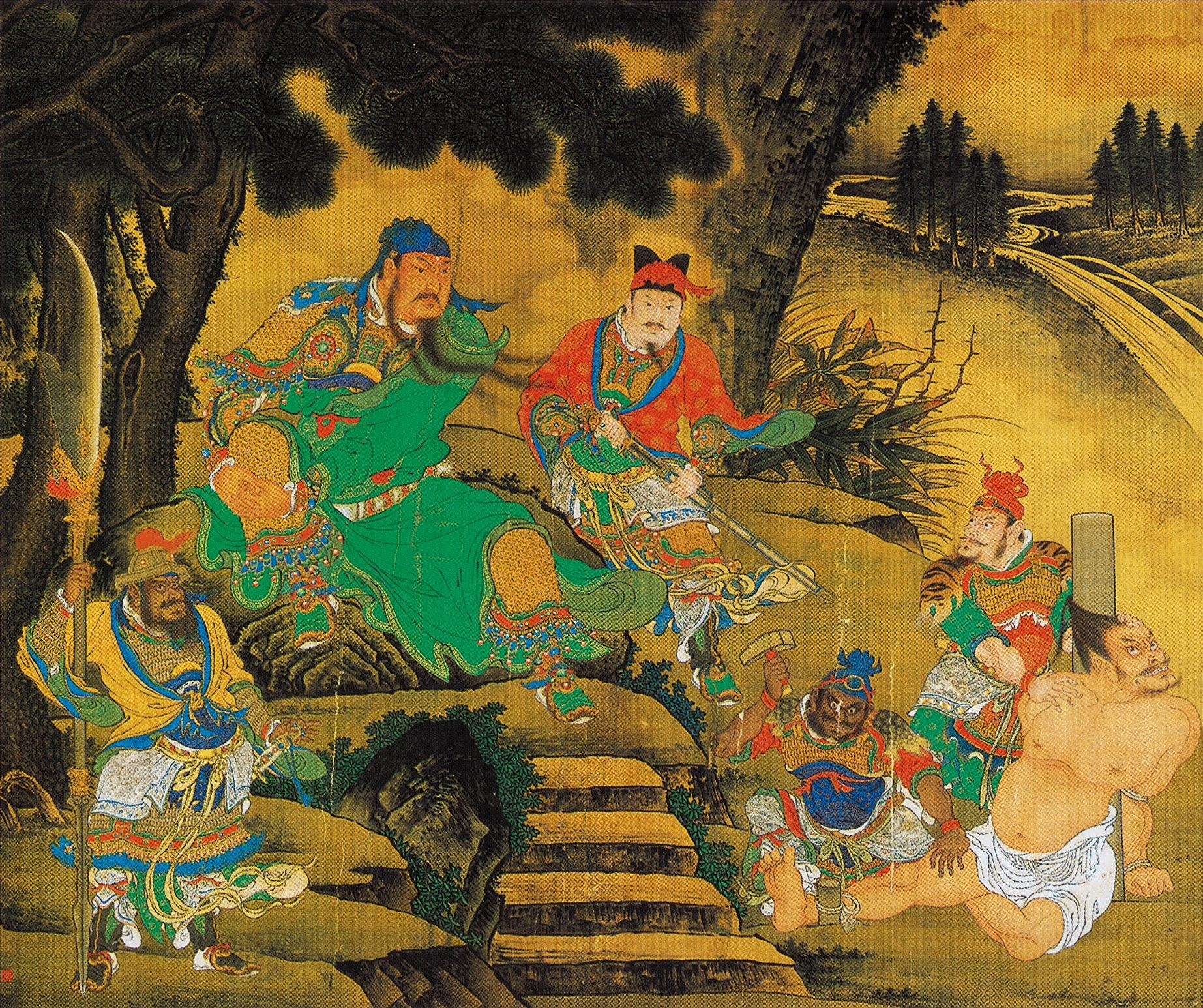 File shang xi guan yu captures general pang de2 jpg for Dynasty mural works