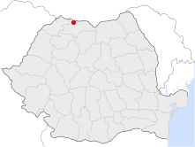 Location of Sighetu Marmației in Romania