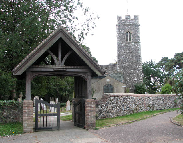 File:St John the Baptist's church - lych gate - geograph.org.uk - 1514651.jpg