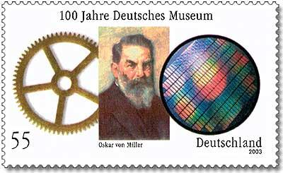 Stamp Germany 2003 - 100 Jahre Deutsches Museum