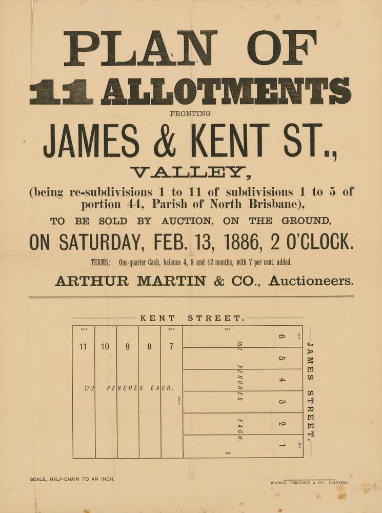 FileStateLibQld 2 262844 Estate map of allotments fronting James
