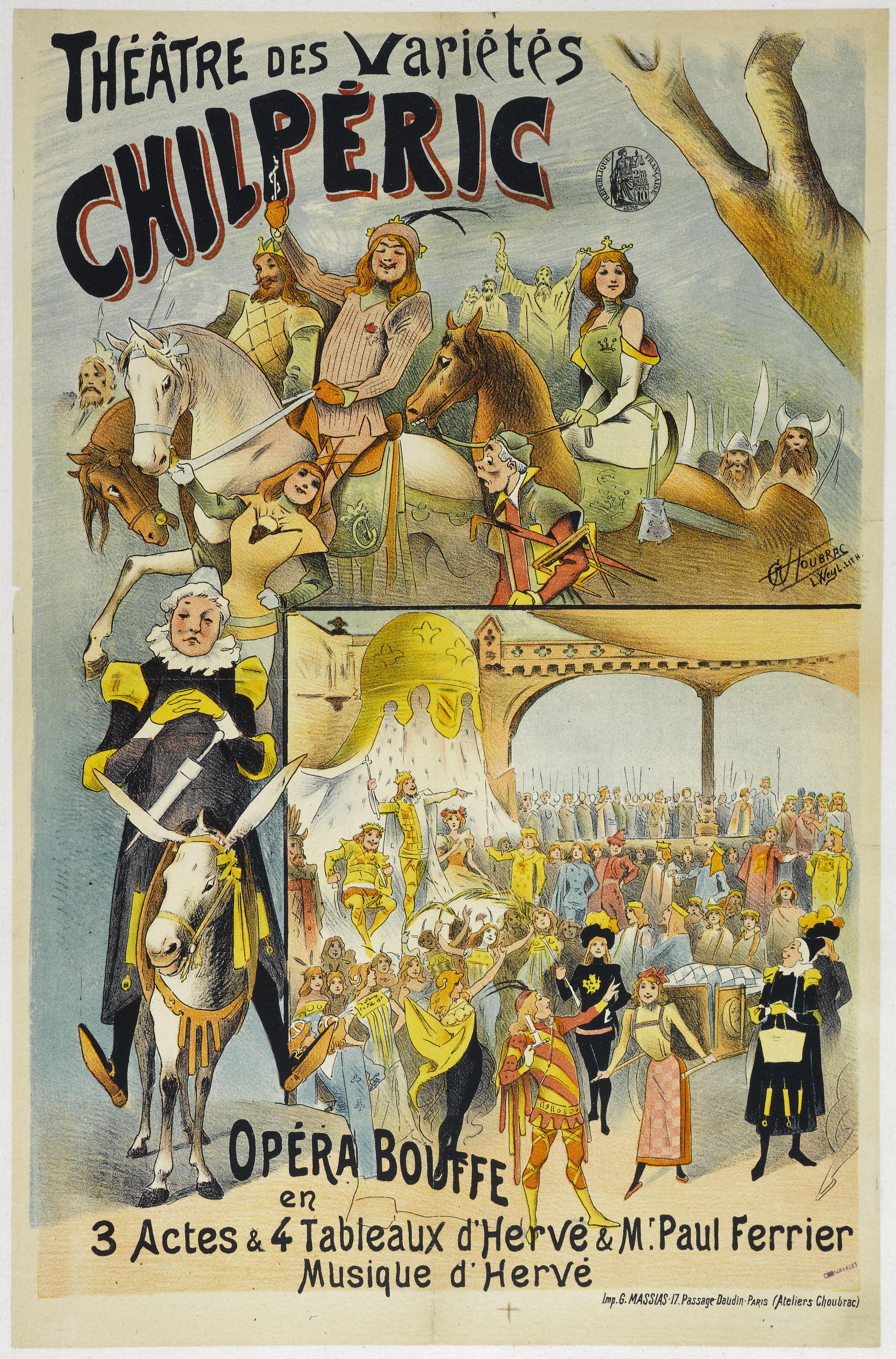 Filethéâtre Des Variétés 1895 Affiche Chilpéric A