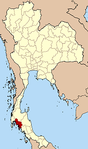 Map of Thailand highlighting Krabi Province}