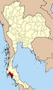 クラビー県の位置