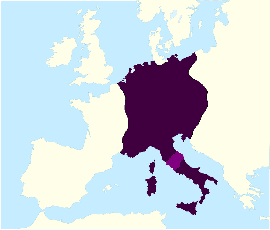 File The Holy Roman Empire At It S Greatest Extent In The