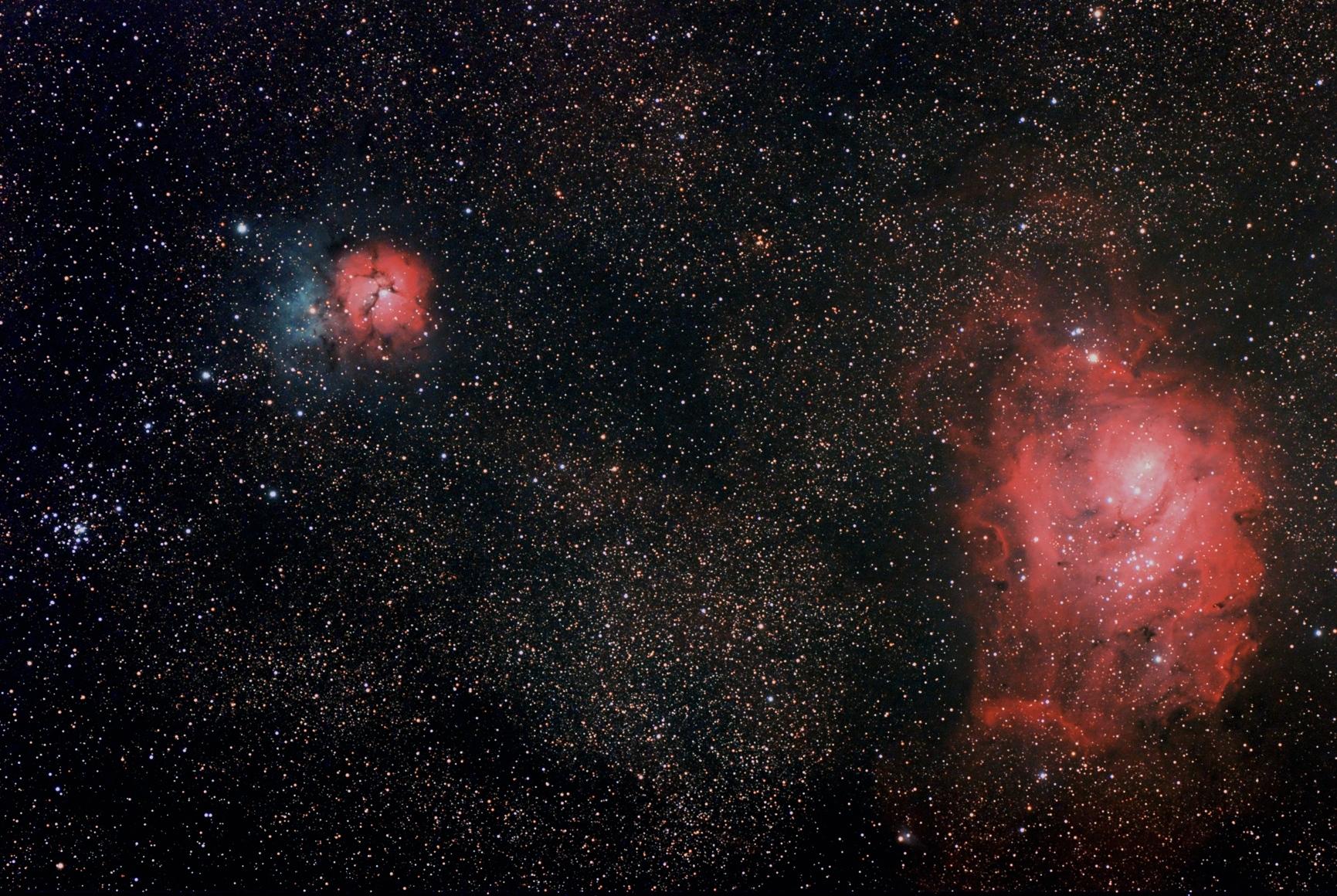 trifid and lagoon nebula - photo #15