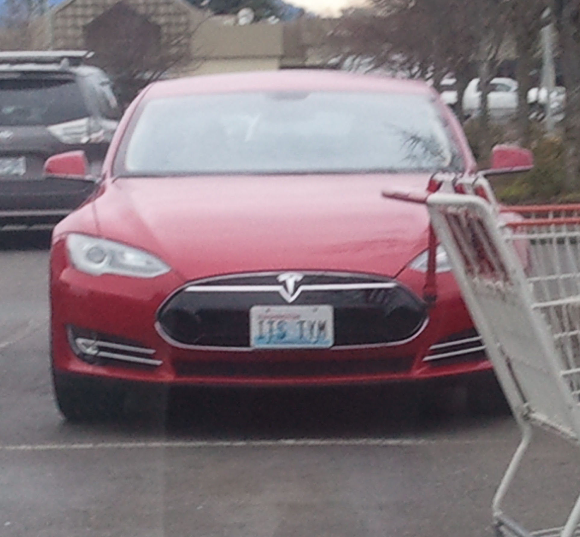 filethis is a picture of a tesla model s with a humorous license plate