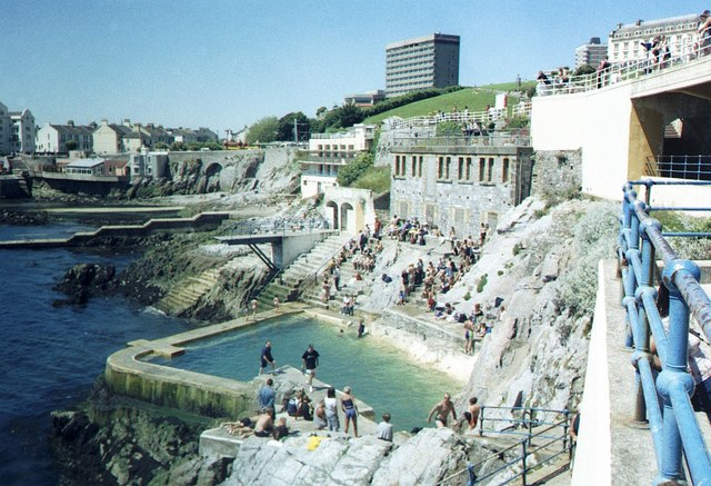file tidal bathing pool at plymouth hoe taken in 2000 geograph org