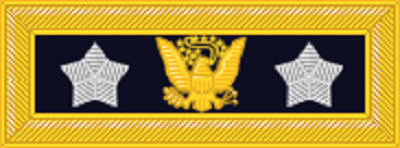 Shoulder strap insignia, introduced by Sherman in 1872 for his use as General of the Army