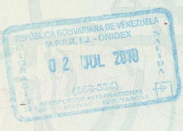 Image result for venezuelan passport stamp