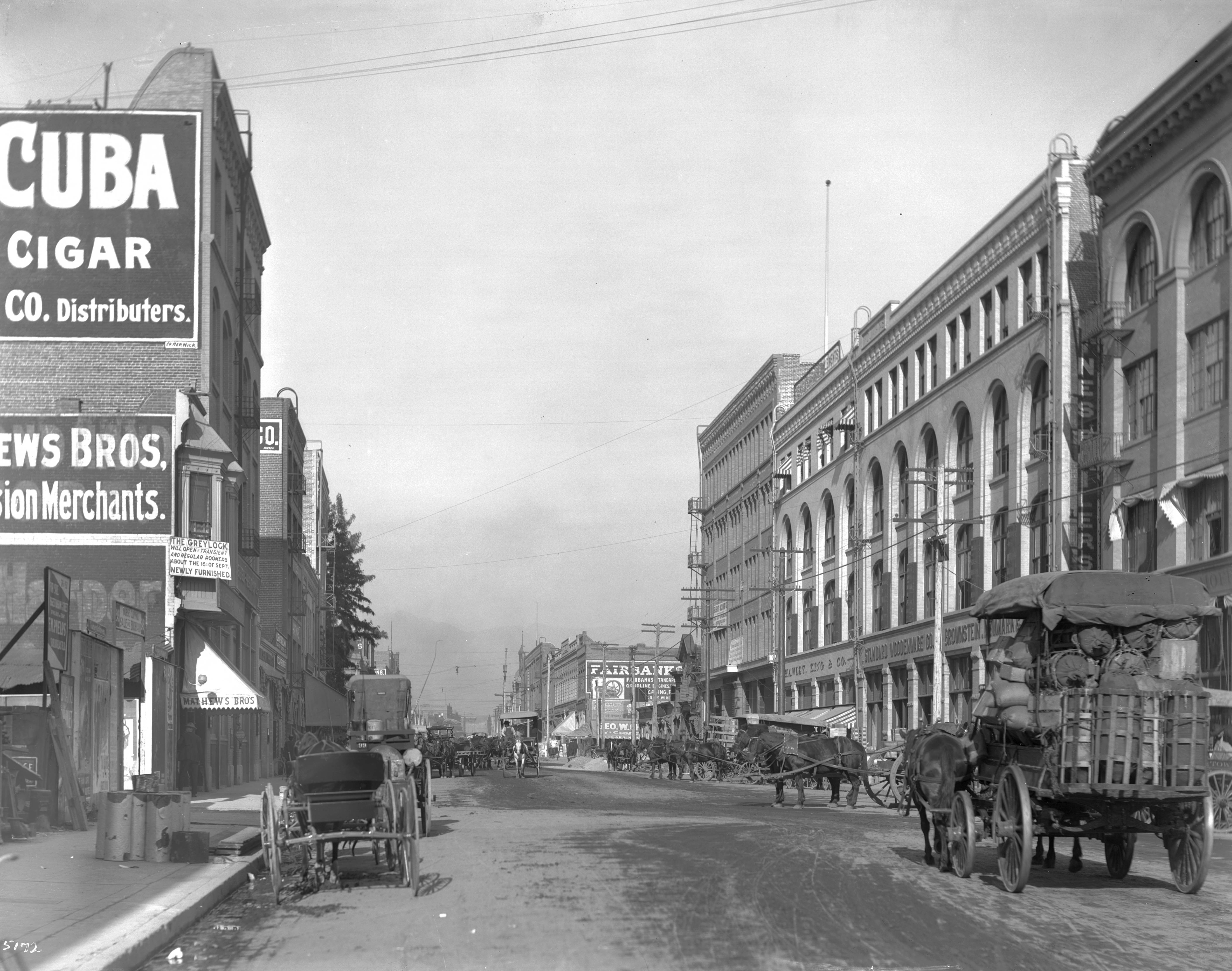 fileview of los angeles street north from third street