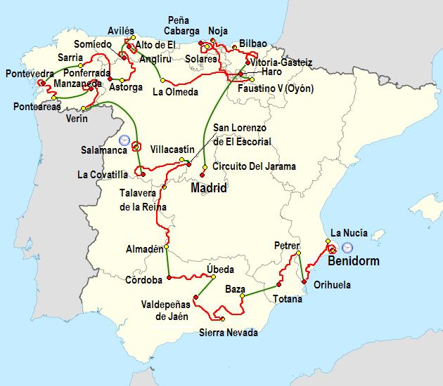 mapa espanha benidorm 2011 Vuelta a España   Wikiwand mapa espanha benidorm