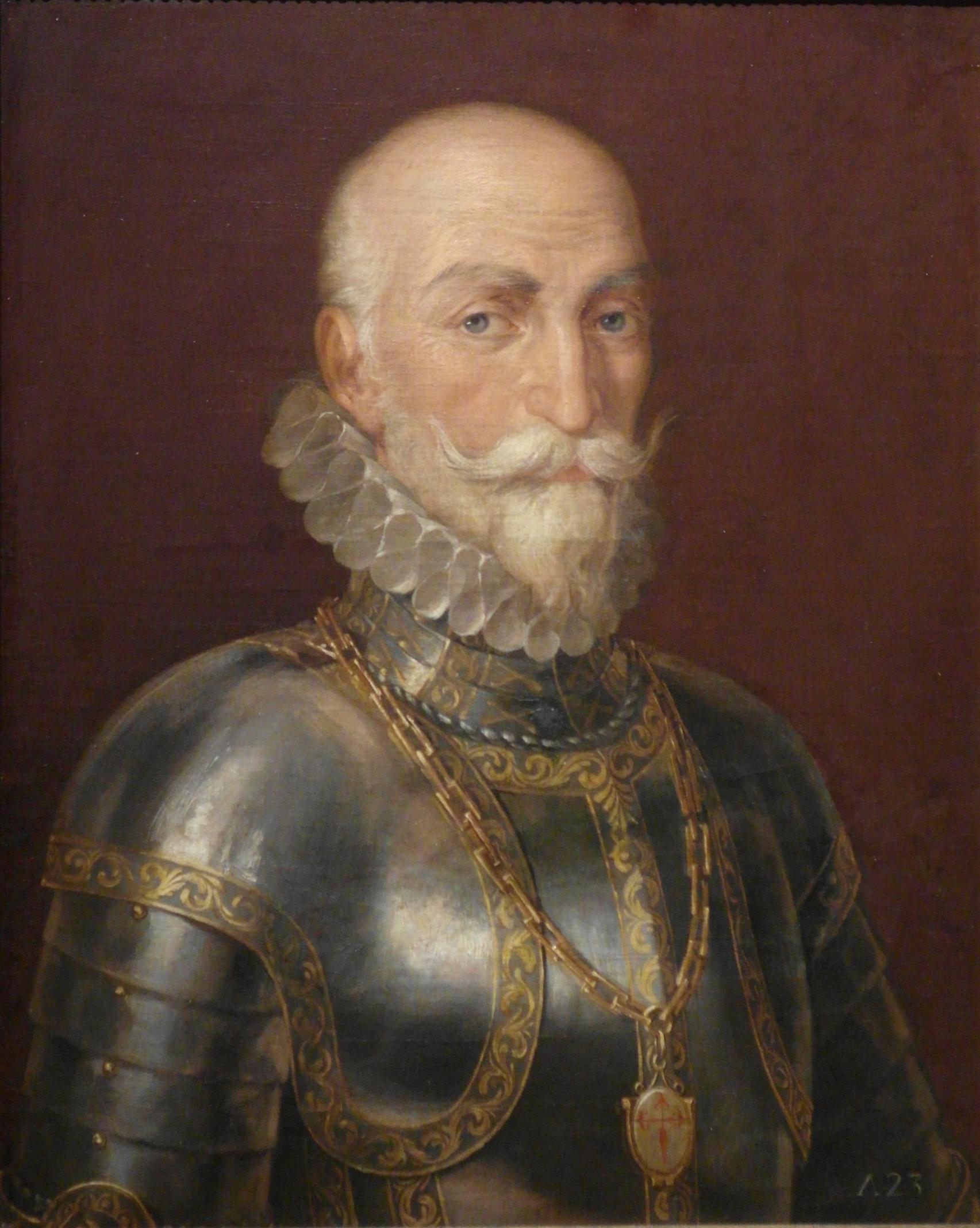Álvaro de Bazán, capitán general de la Armada de la Mar Océana (desde 1526 hasta 1588) por Rafael Tegeo Díaz, 1.828.
