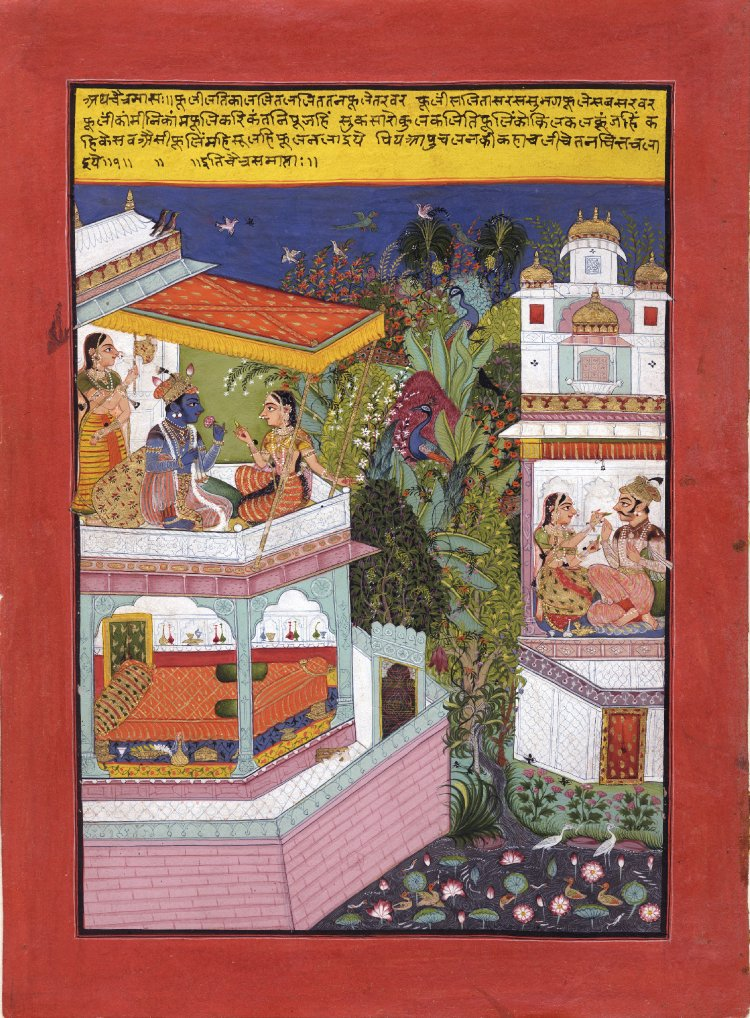 1 The month of Chaitra. Barahmasa series. March-April. 1675-1700 (circa) Bundi. British Museum.jpg