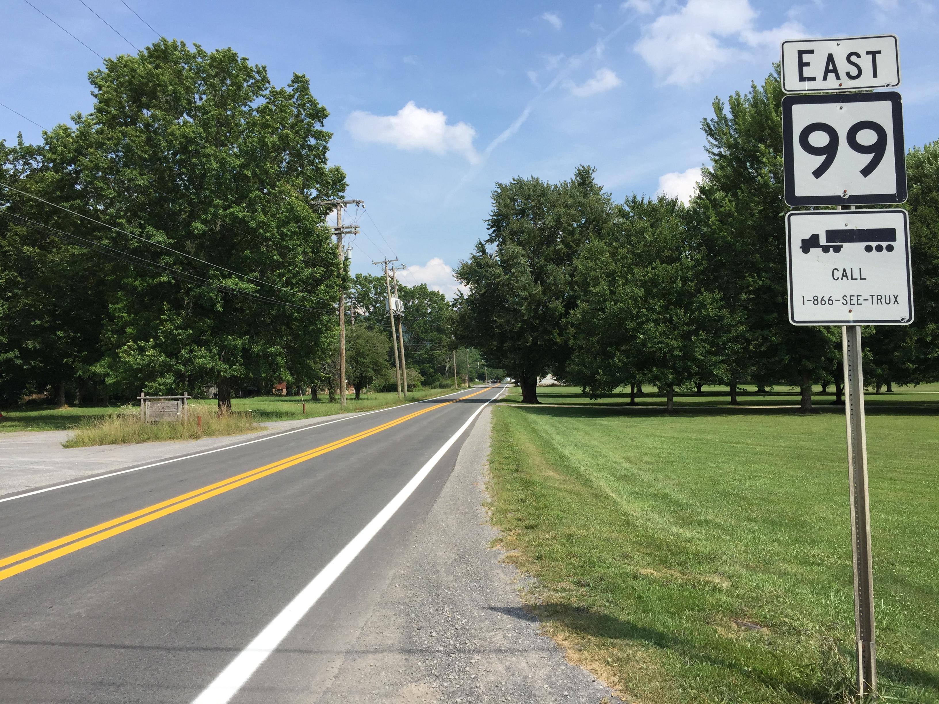 West Virginia Route 99 Quiz