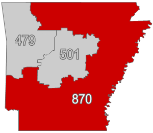 Area code for pine bluff arkansas