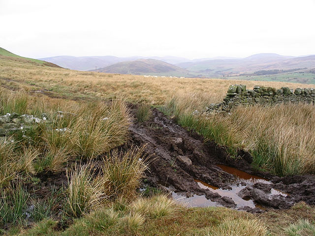 File:A muddy track on Middleholm Hill - geograph.org.uk - 602571.jpg