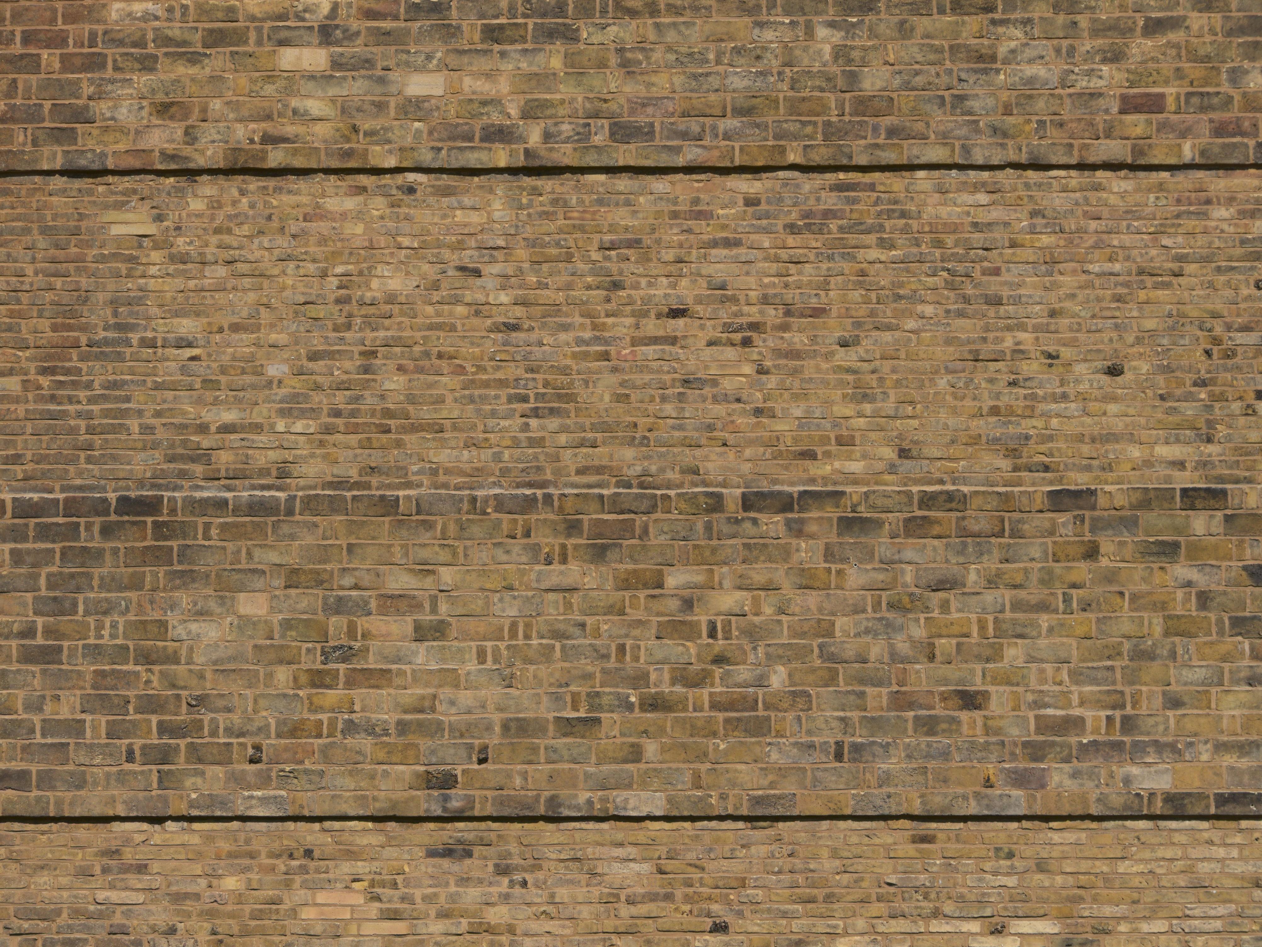 Freistehende ziegelmauer