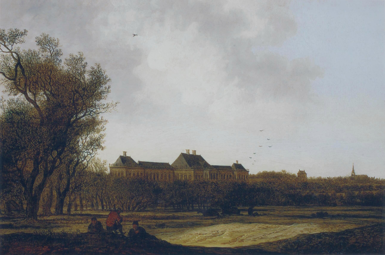 Anthonie Jansz van der Croos - Gezicht op Huis ter Nieu-burg bij Rijswijk 1661