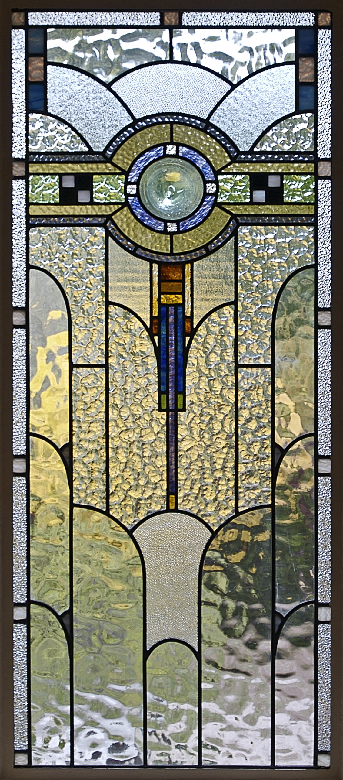 File art deco stained glass in a melbourne for Art deco building materials