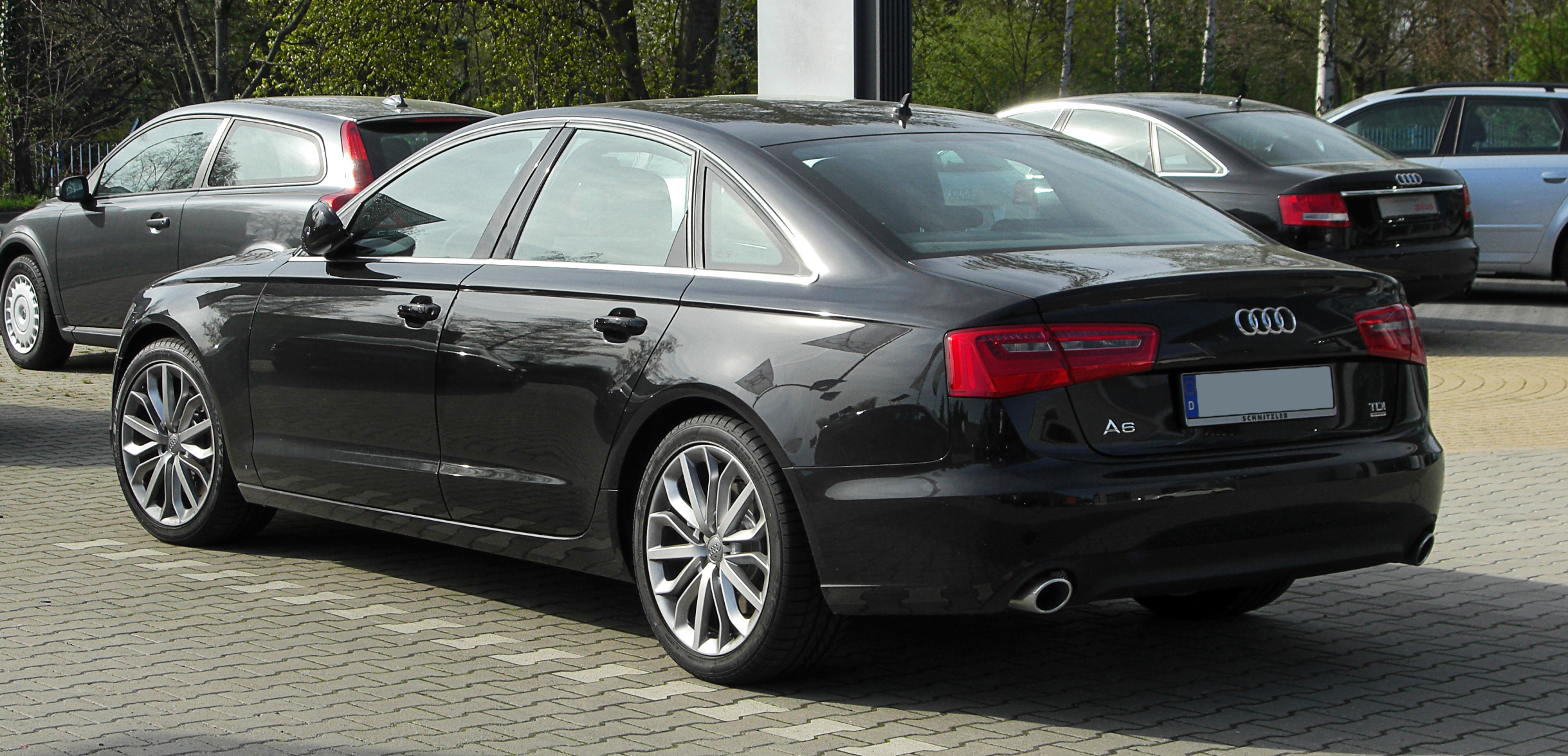 file audi a6 3 0 tdi quattro c7 heckansicht 2 april 2011 wikimedia commons. Black Bedroom Furniture Sets. Home Design Ideas