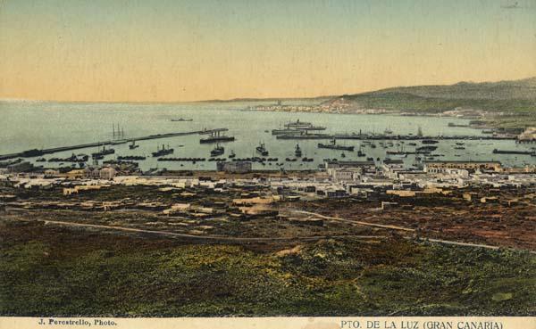 Hafen von Las Palmas 1912 - Quelle: WikiCommons