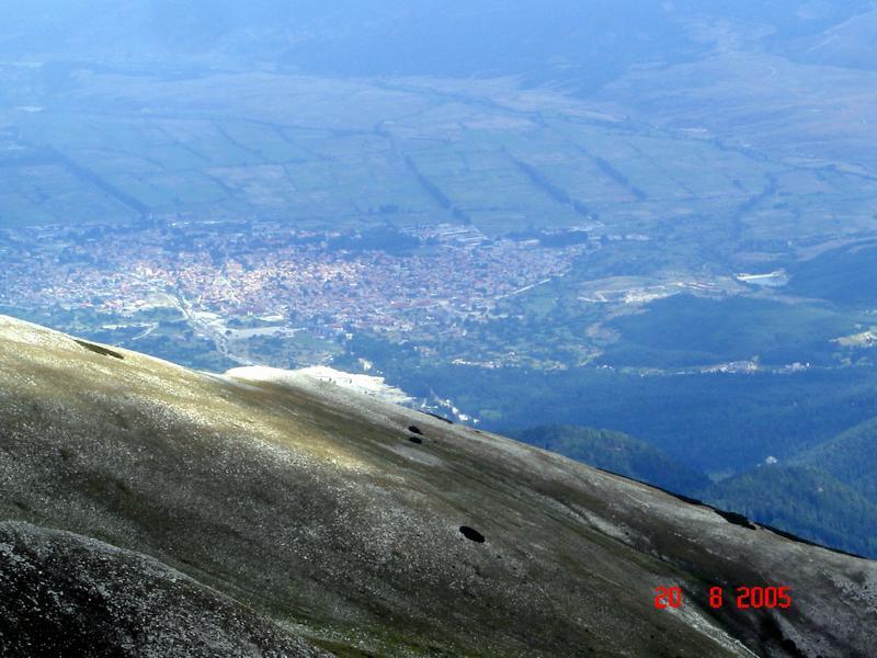 Банско Болгария с гор Пирин