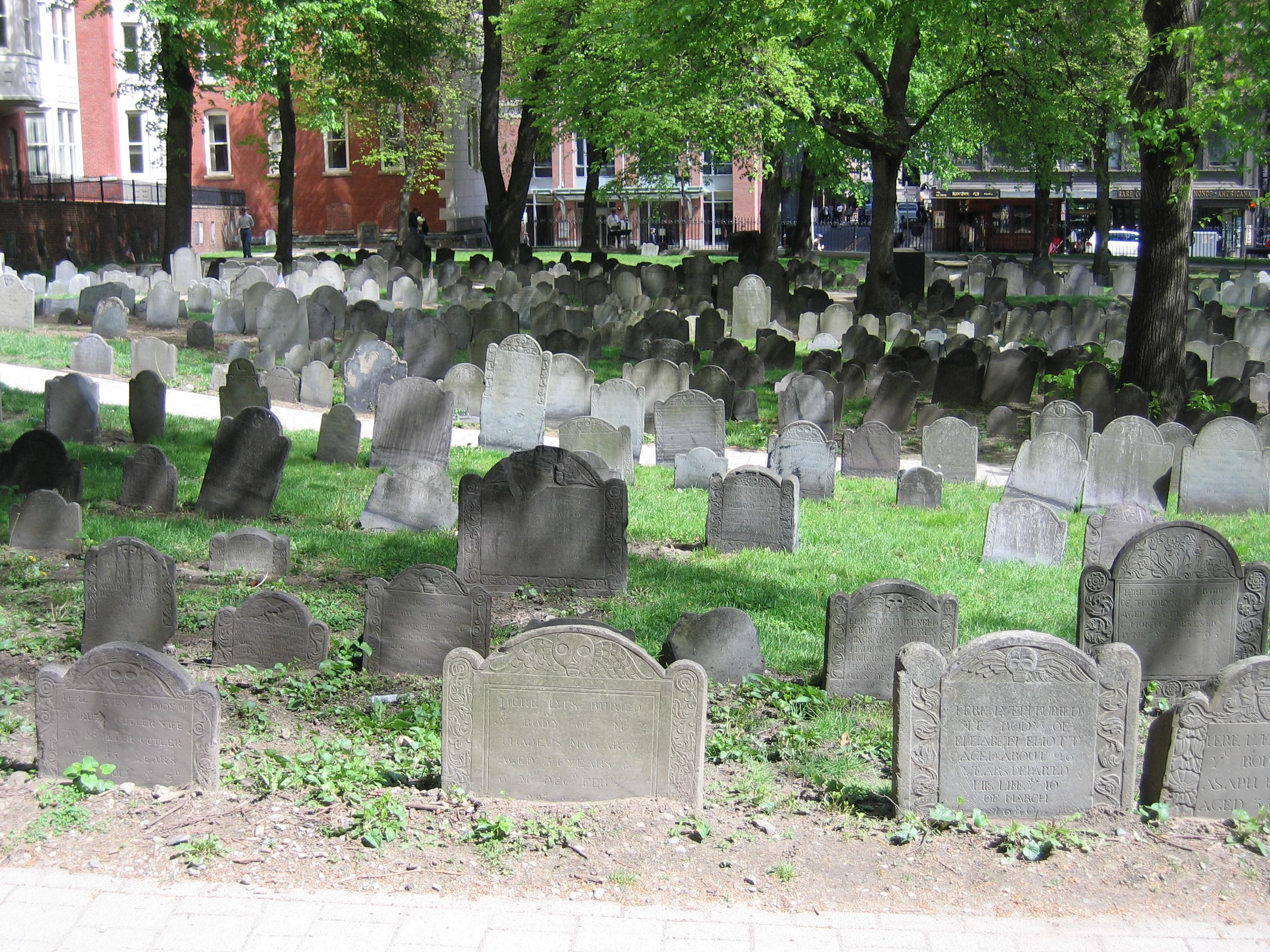 Granary Burying Ground en Boston, MA