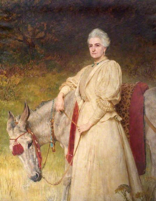 Lady Harriet Sarah Wantage (1837–1920) with her Egyptian Donkey