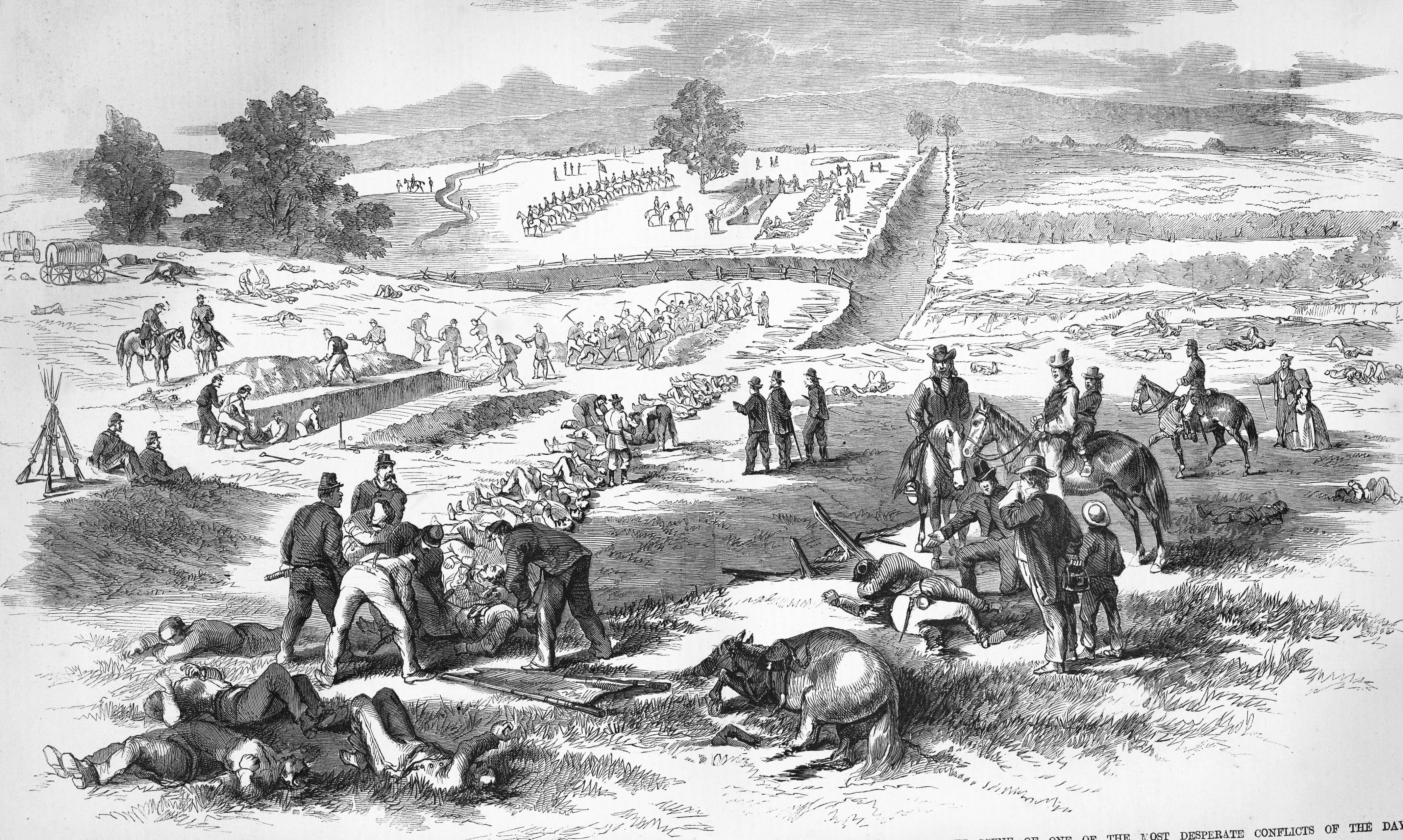 CIVIL WAR 1861 SANDY HOOK COLONEL STONE HEADQUARTERS UPPER POTOMAC HORSE WAGONS