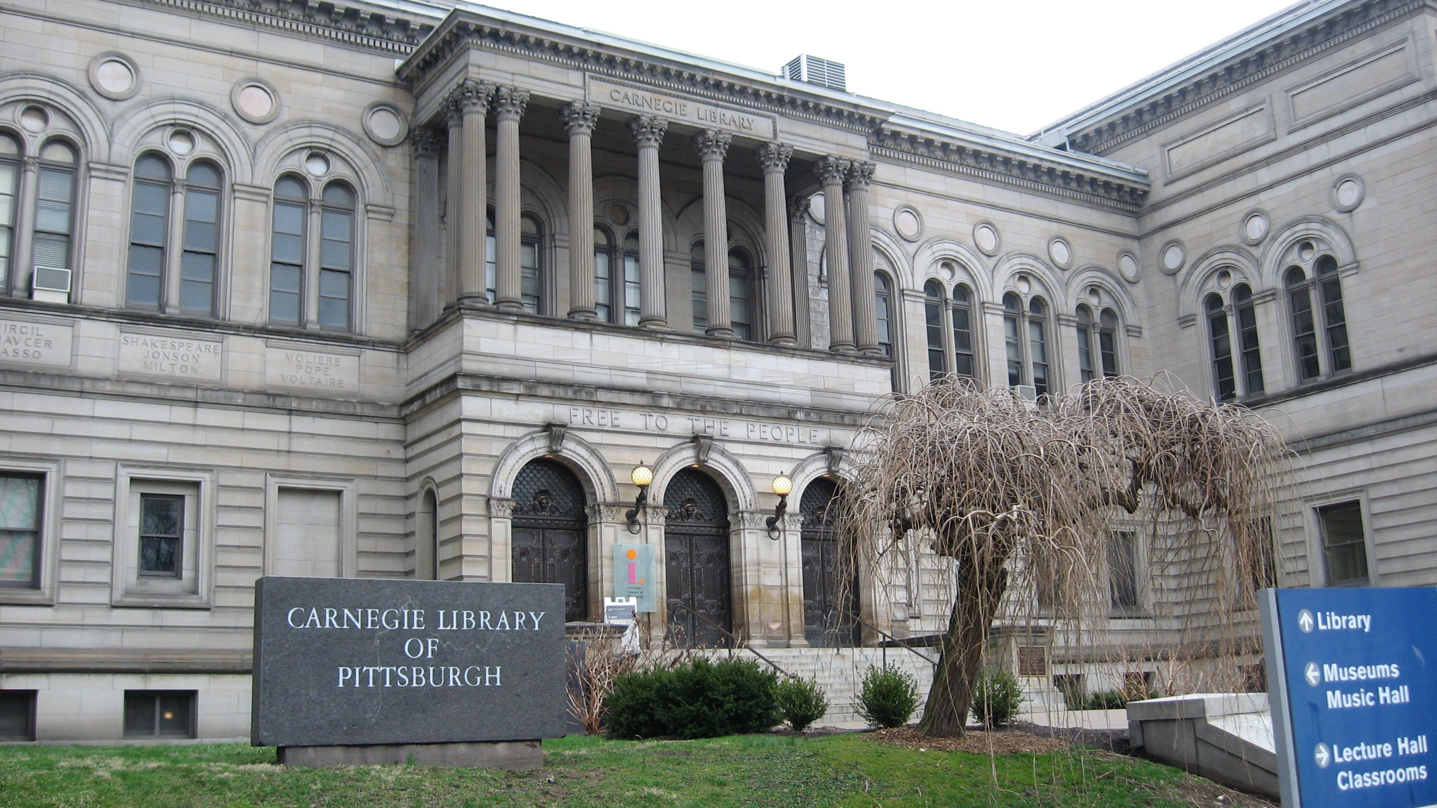 Carnegie Library of Pittsburgh Main Branch in the city's Oakland neighborhood