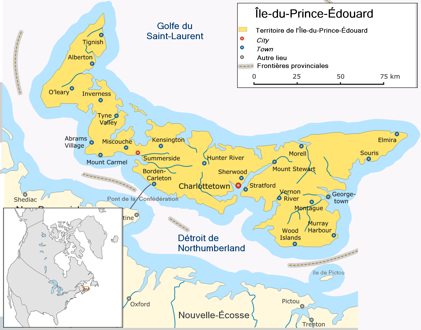 Map Of Cities In Prince Edward Island