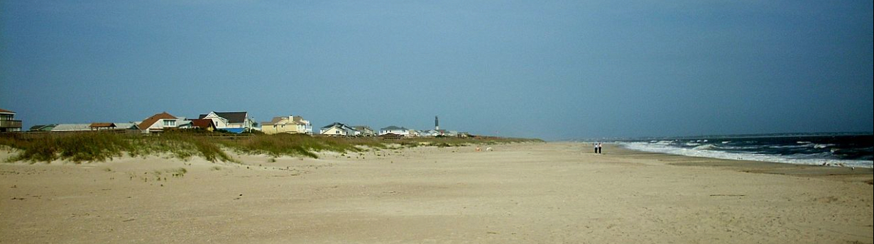 Panoramic View Of Caswell Beach In 2011 Looking East With The Oak Island Lighthouse Background