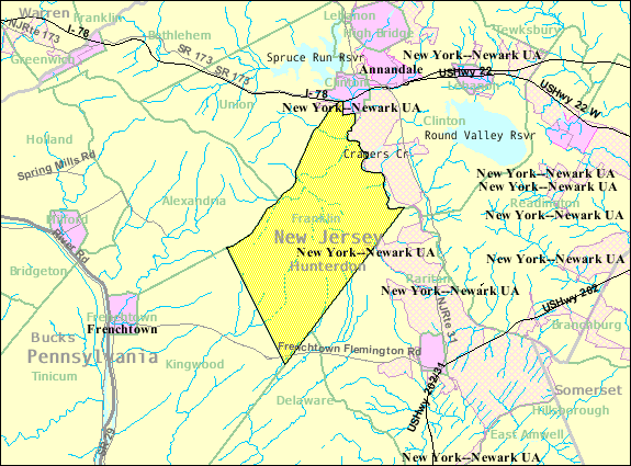 File:Census Bureau map of Franklin Township, Hunterdon County, New on