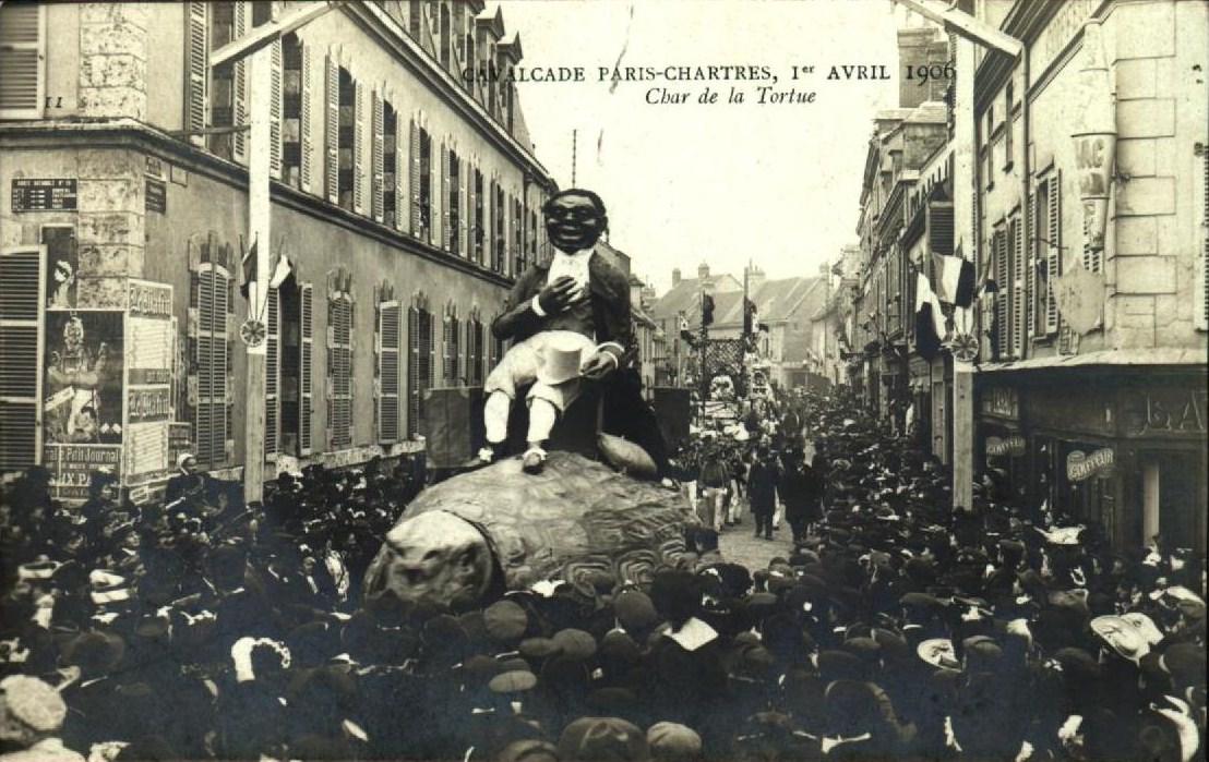 file char de la tortue 1906 paris à la cavalcade paris chartres 1906
