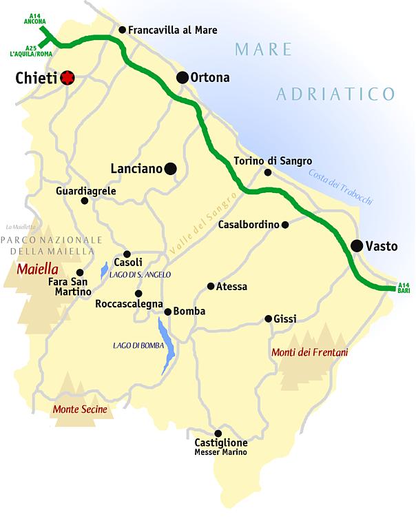 Cartina Geografica Roccaraso.Provincia Di Chieti Wikipedia