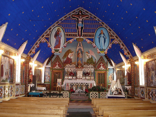 Church of Our Lady of Good Hope - interior, a place in Fort Good Hope, Northwest Territories of Canada