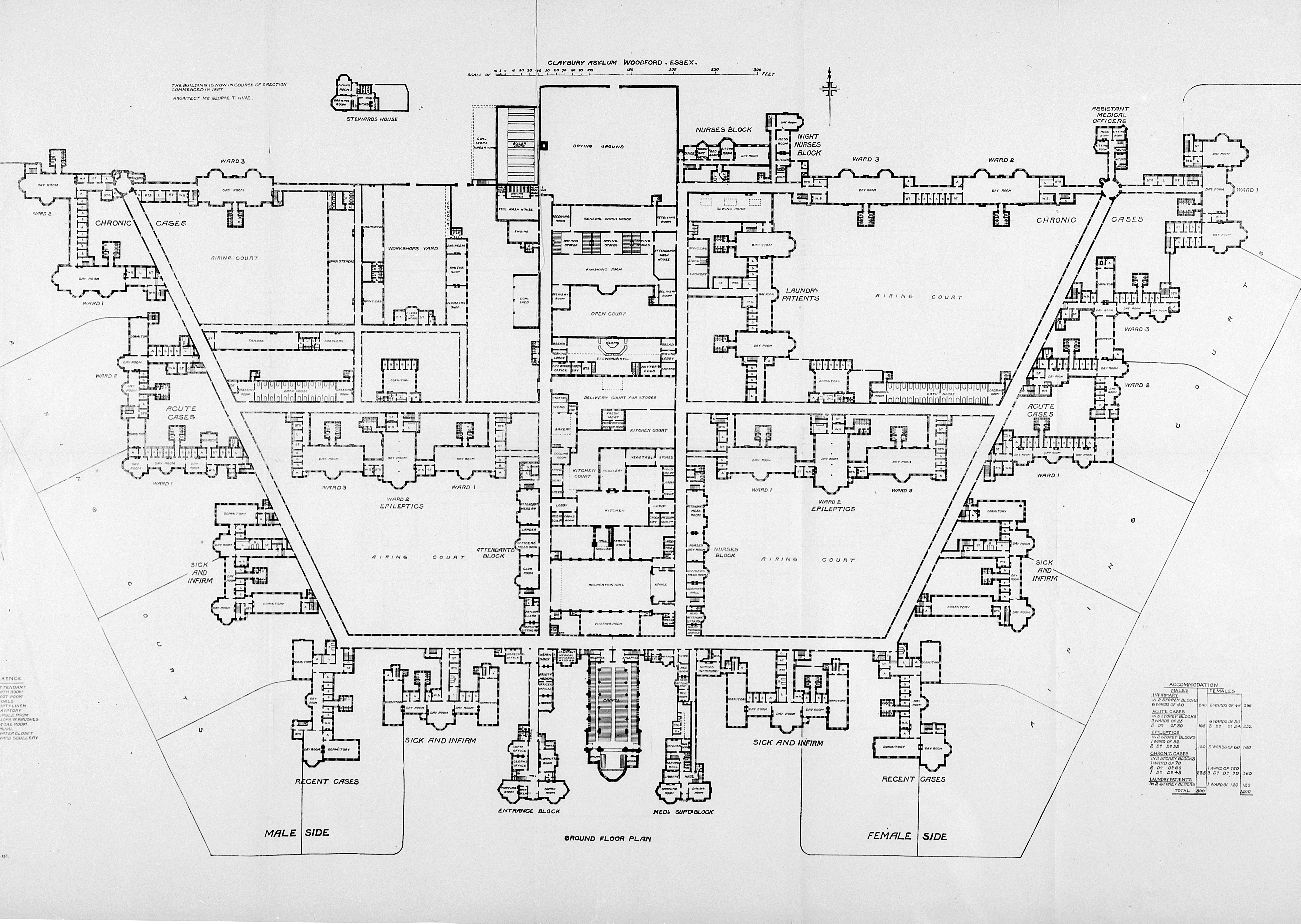 File Claybury Asylum Ground Floor Plan Wellcome L0023315