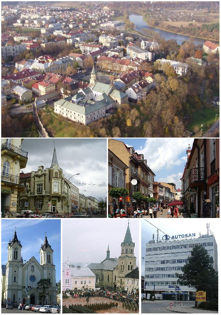 Collage Of Views Of Sanok