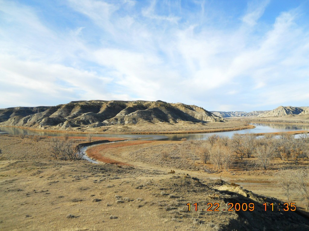 View of Cow Creek as it flows in to the Missou...