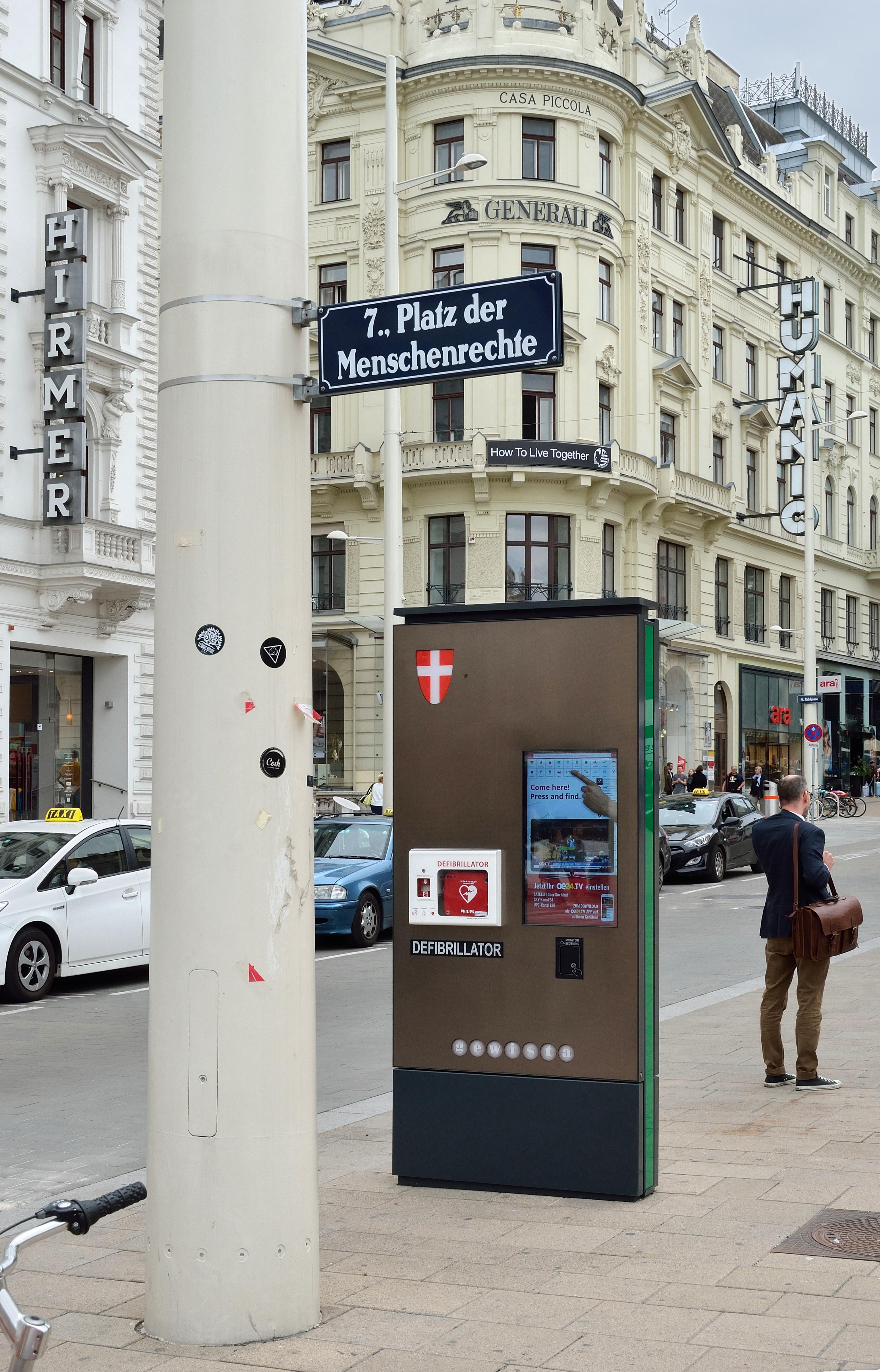 Platz der Menschenrecht, Wien - Foto: WikiCommons