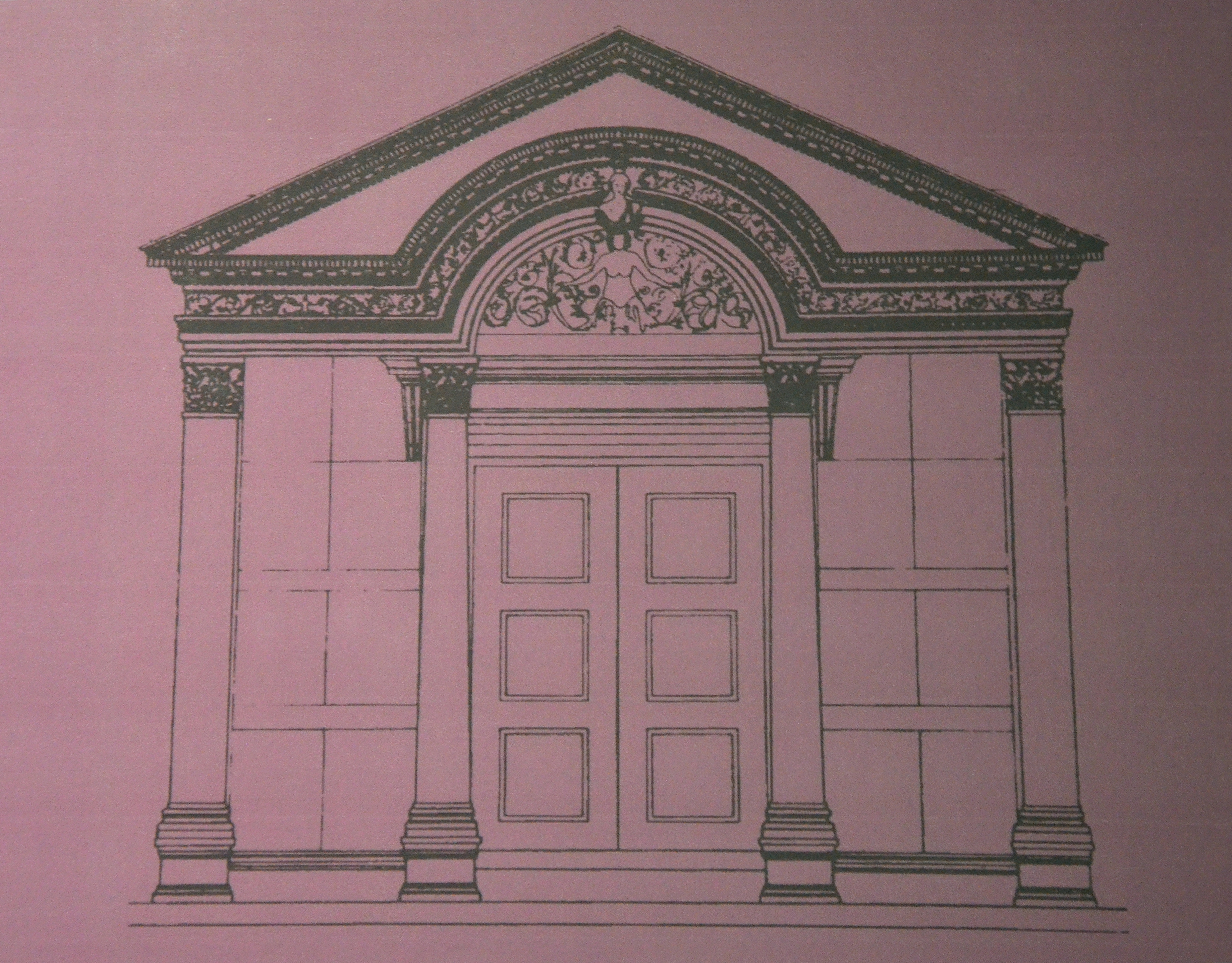 file drawing of the temple of hadrian at ephesus ephesus museum
