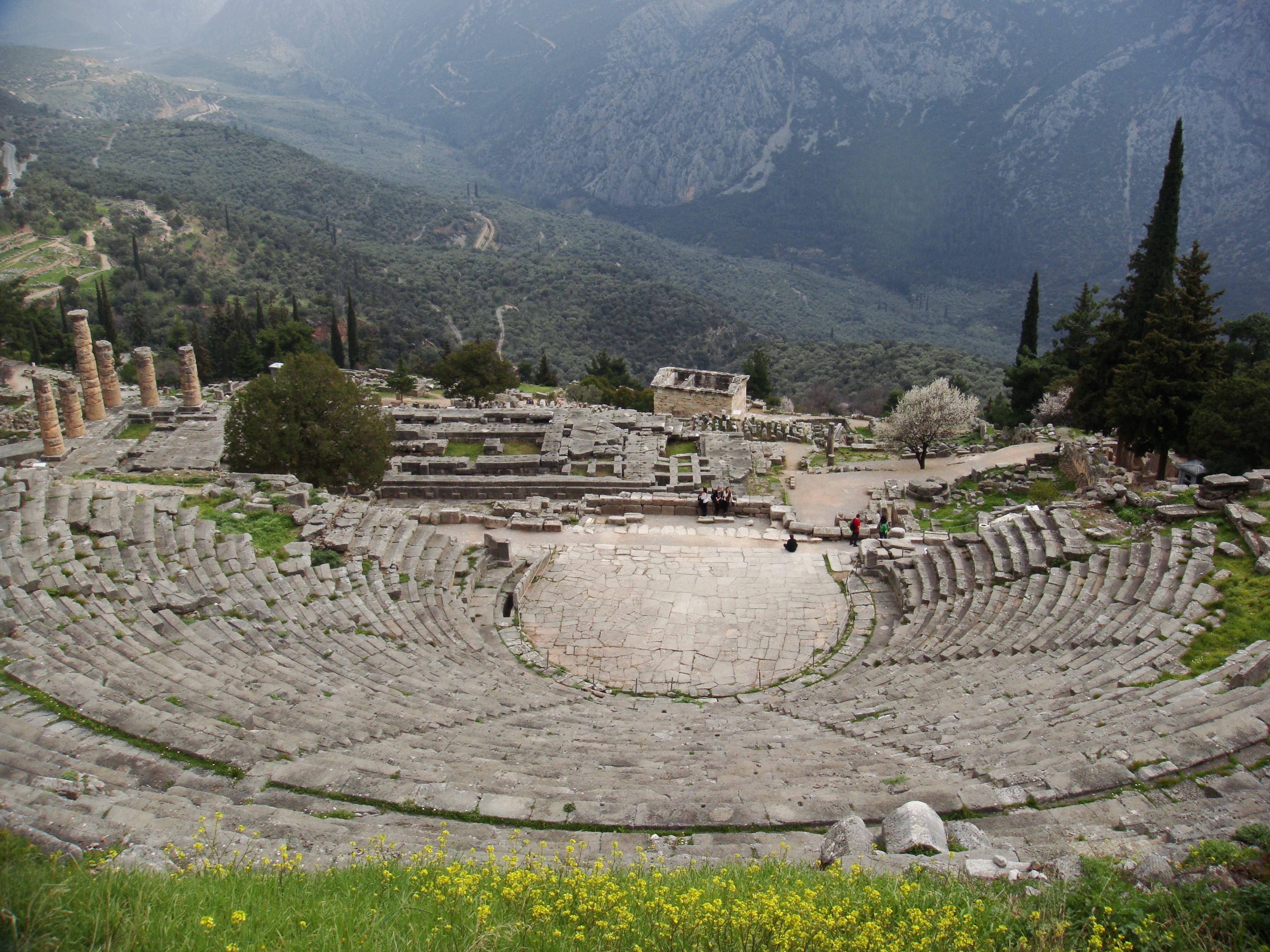Delphi Greece  city pictures gallery : Ancient Greek Theatre: Delphi Theatre
