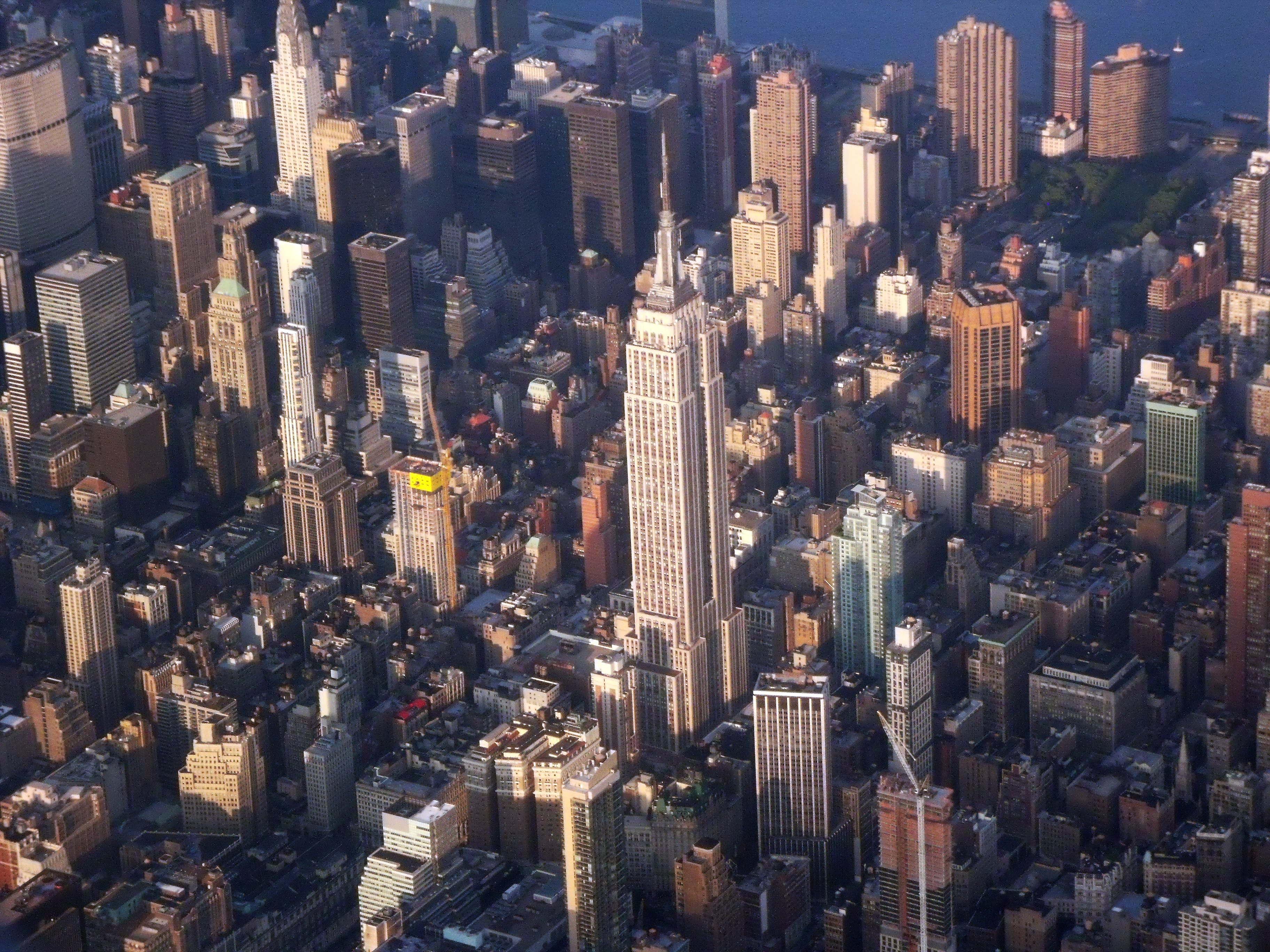 Skyline, New York City Midtown Manhattan Skyscrapers, Aerial View ...