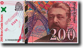 200 Franc Vorderseite