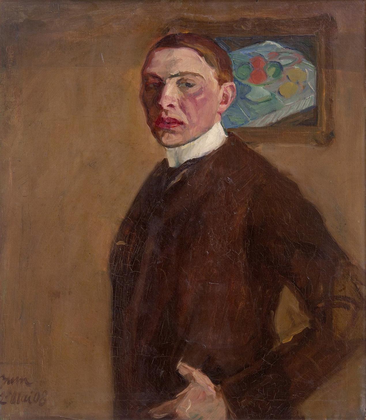 File Georges Kars Autoportret Na Rubu Kresba Aktu Vmg 242 Jpg