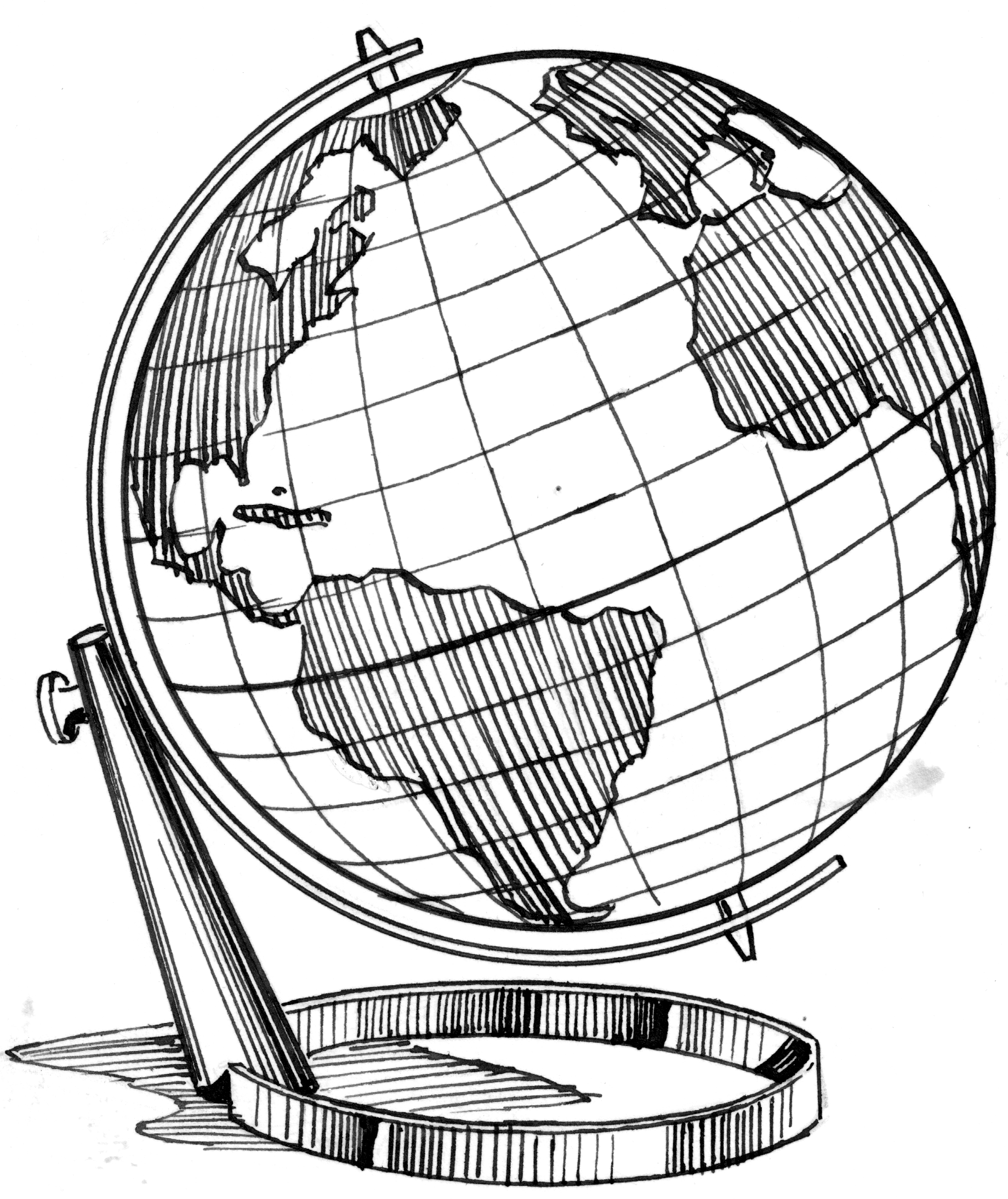 Line Drawing Globe : Globe sketch imgkid the image kid has it