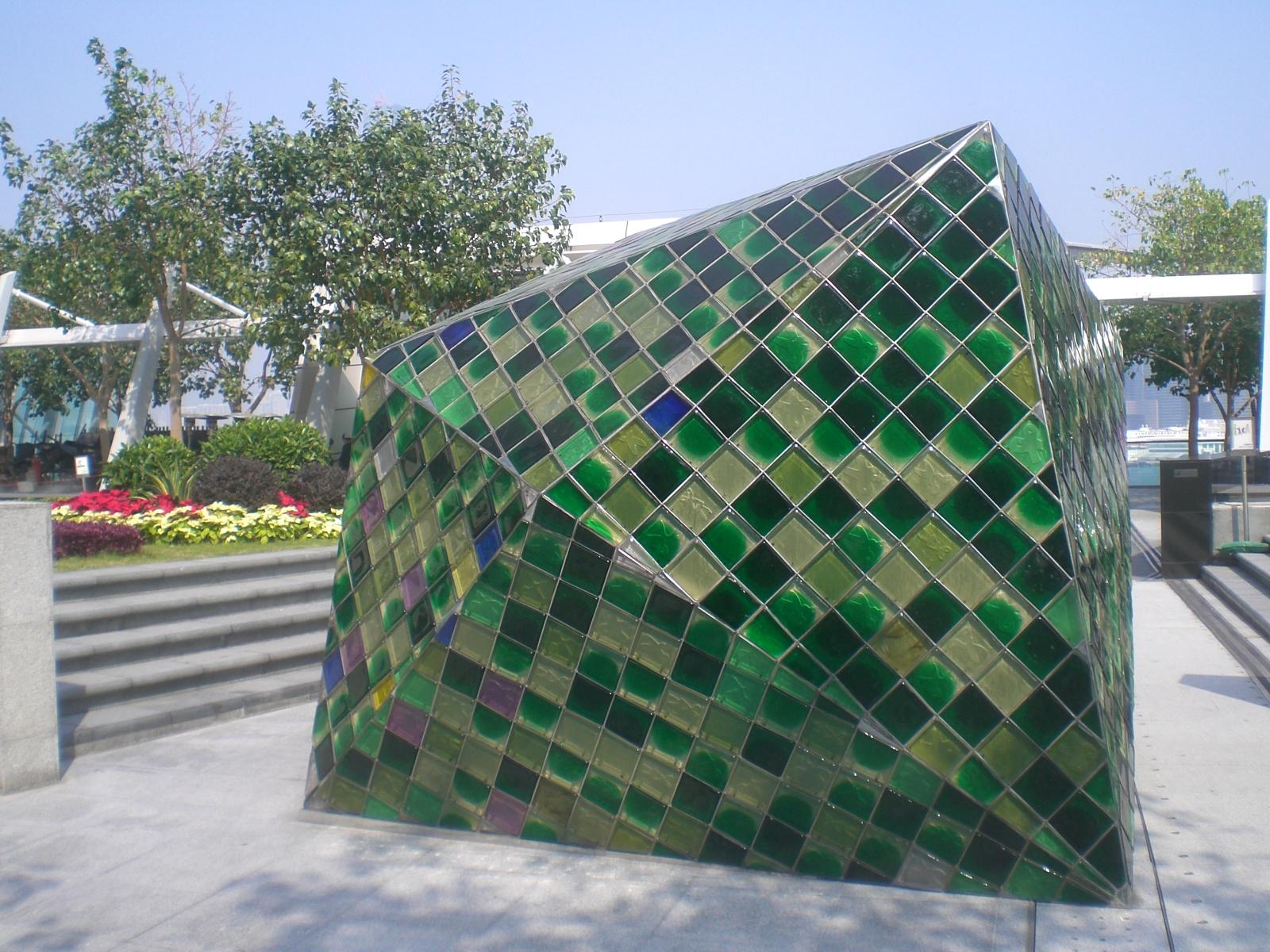 file hk ifc roof podium garden glass sculpture green tile mosaics