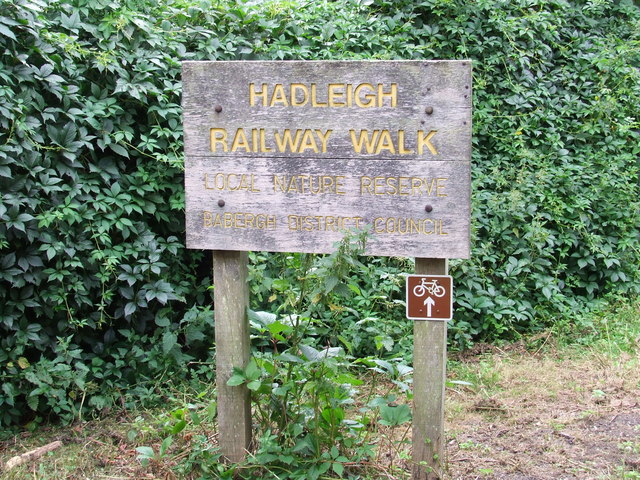 Hadleigh Railway Walk Sign - geograph.org.uk - 525894
